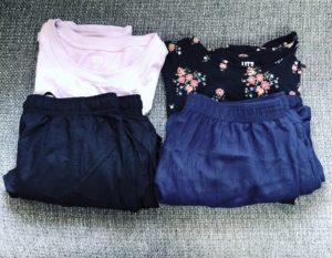 【洋服】ミニマリストの夏のパジャマ・部屋着問題