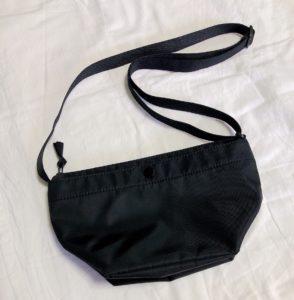 【UNIQLO購入品】ミニマリストを目指す人にオススメしたい、UNIQLOのナイロミニンショルダーバッグ。