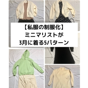 【私服の制服化】ミニマリストな私がユニクロ・GUの9着で着回す3月の5パターン<2020年版>