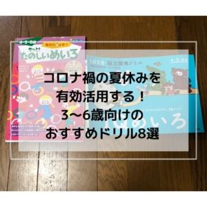 【子育て】コロナ禍の夏休みを有効活用する!3~6歳(幼稚園生)向けのおすすめドリル8選